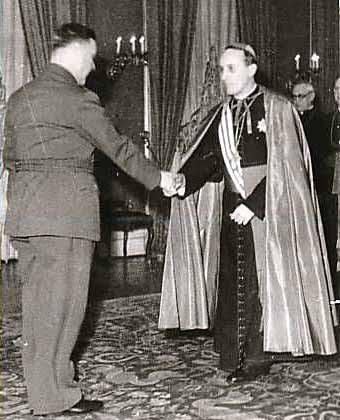 Archbischop of Zagreb Bl. Alojzije Stepinac meets Ante Pavelic