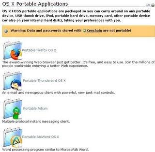Des programmes portables pour Mac !