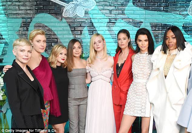 Star-studded: The brunette beauty was joined by Michelle Williams, Greta Gerwig, Ava Phillippe, Maddie Ziegler, Elle Fanning, Doutzen Kroes, Kendall Jenner at the fashion bash