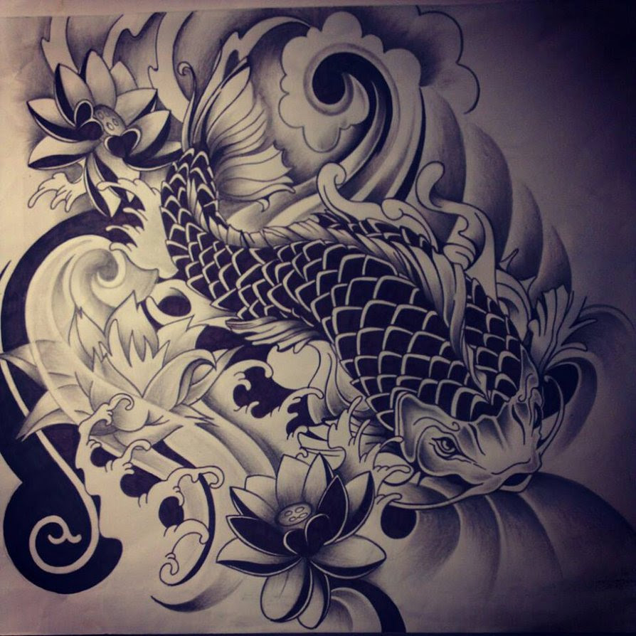 Asian Flowers Koi Fish Tattoo On Arm In 2017 Real Photo Pictures
