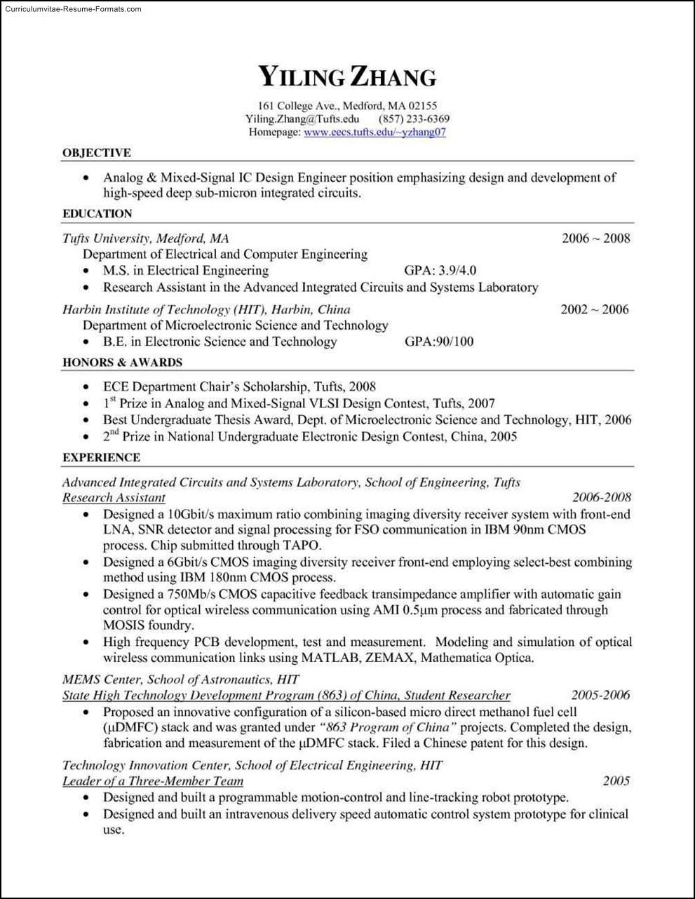 Free Resume Templates Pdf  Free Samples , Examples  Format Resume \/ Curruculum Vitae  Free