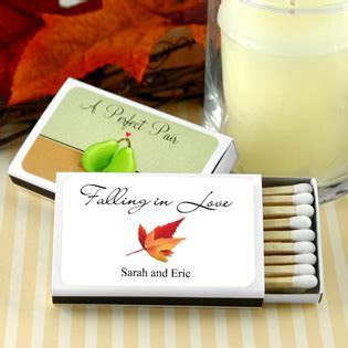 Personalized Matches Set of 50 White Box Fall Designs