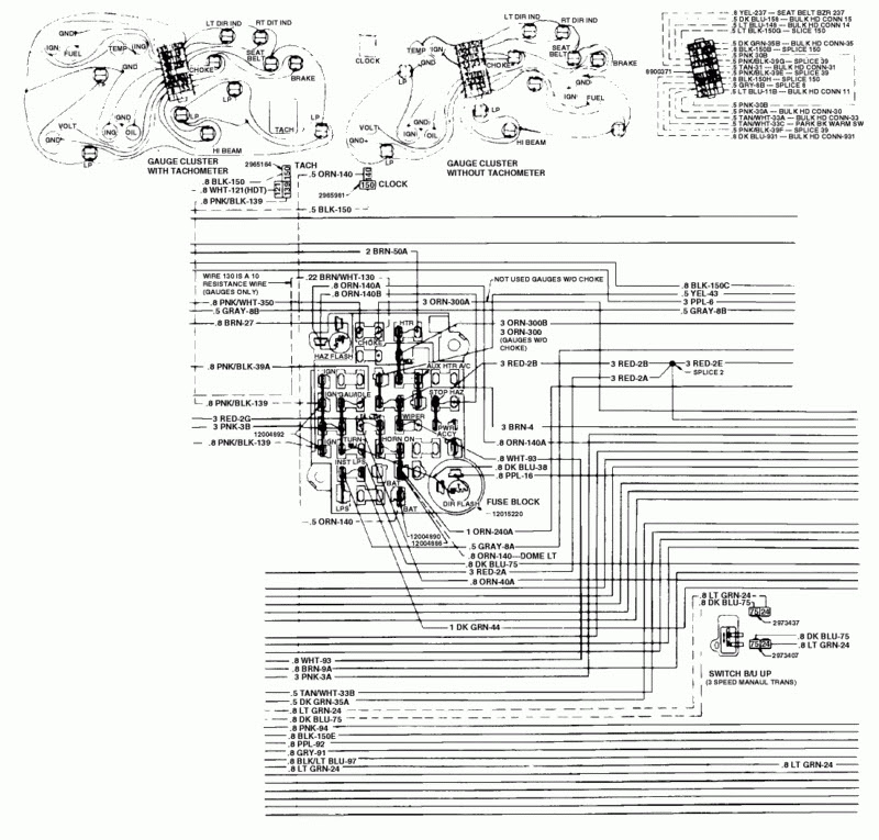 1984 Chevy K10 Truck Color Wiring Diagram