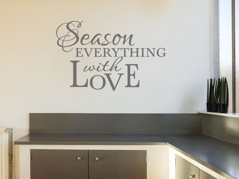Kitchen Wall Quote Season Everything.. Wall Art Sticker