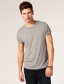 Asos T Shirt With Rolled Sleeves