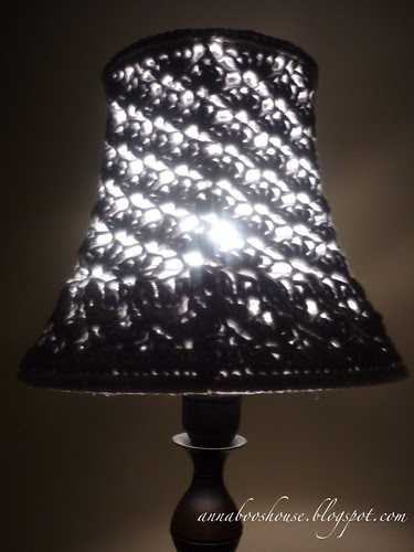 Lampshade crochet makeover