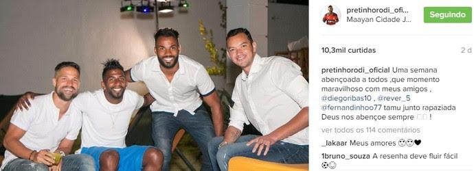 Diego, Rodinei, Réver e Fernandinho (Foto: Reprodução Instagram Rodinei)