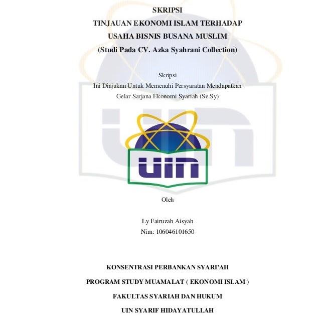 Skripsi Fakultas Ekonomi Dan Bisnis Uin Jakarta Kumpulan
