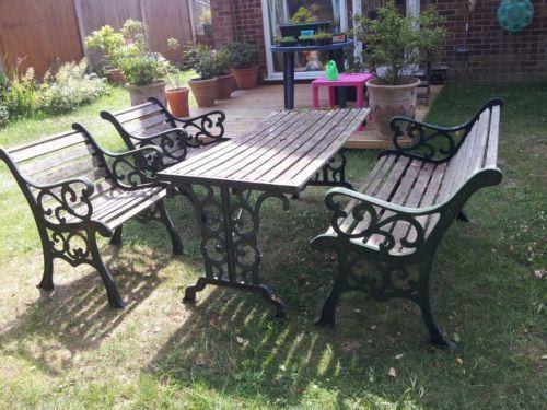 Wrought Iron Garden Furniture | eBay