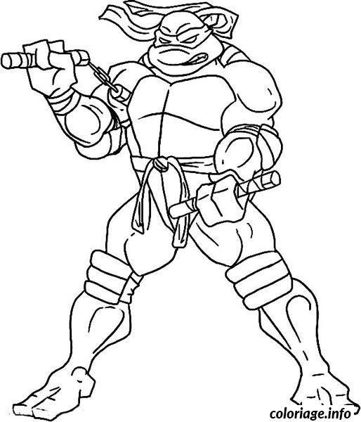 Coloriage Tortue Ninja 190 Jecoloriecom