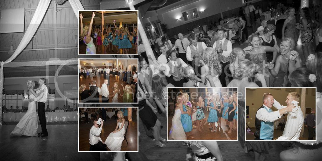 Reception Dance Wedding Album Layout