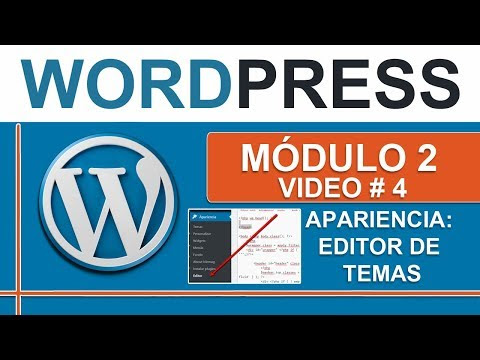 Editor de temas en Wordpress