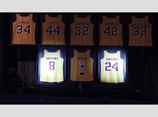 Lakers Retire Kobe Bryant's Jersey Numbers   Los Angeles