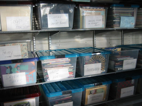 Storage filled with Picture Books