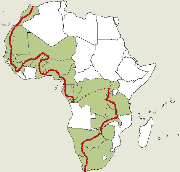 Atlas Mountains On World Map