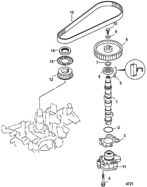 Mercury Marine 15 HP (4-Stroke) Oil Pump / Camshaft Parts