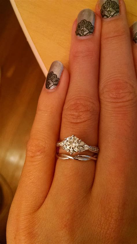 Wedding bands for twisted engagement rings! : weddingplanning
