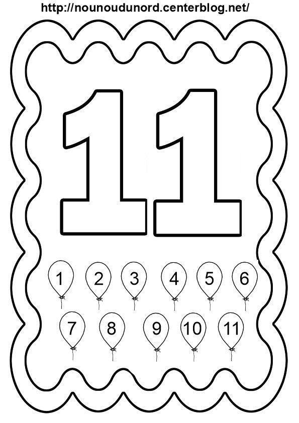 Coloriage Chiffres 1 à 10 Laurent Falguiere