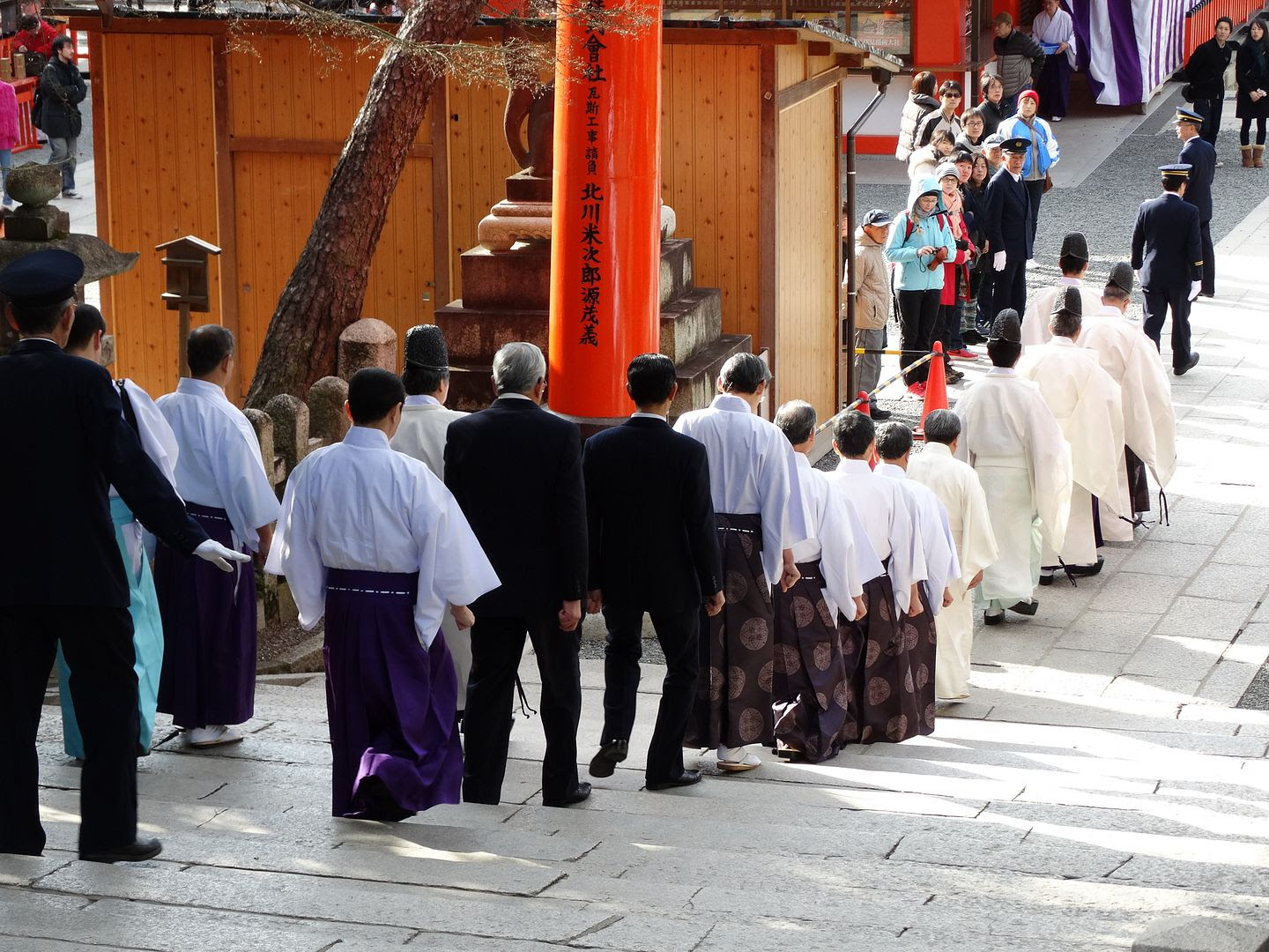 Priests at Fushima Inari Shrine photo 2013-12-23DSC00517_zps64161d60.jpg