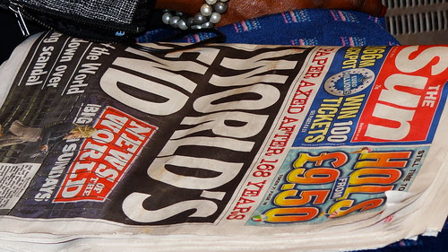 The Sun's take on the News Of The World being closed: World's End