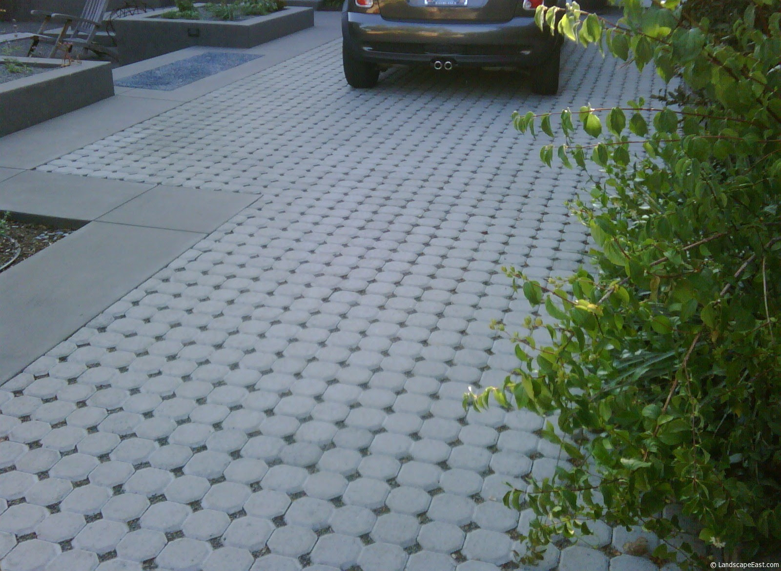 Permeable Paver Driveway Close up