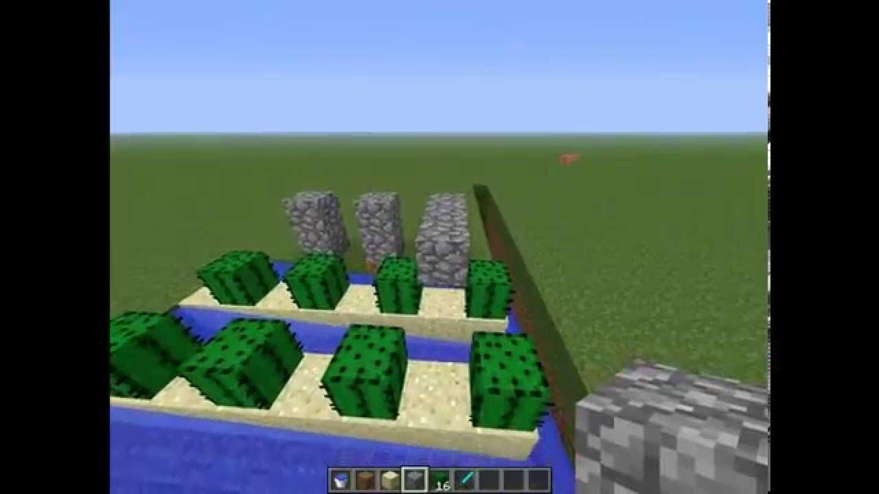 Minecraft - How to Make an Automatic Cactus Farm - Tutorial - Xbox/PC/PE - YouTube