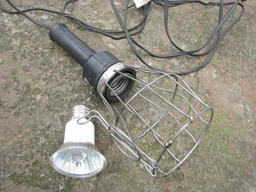 Luminária de bateria e lâmpada dicroica