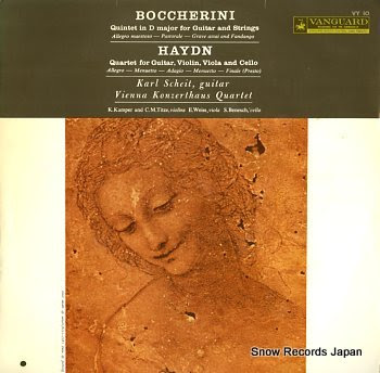 SCHEIT, KARL boccherini; quintet in d major for guitar and strngs