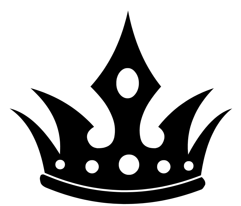 Crown Black And White Princess Crown Clipart Wikiclipart