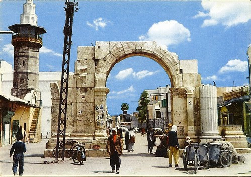 A Postcard From 1963 Straight Street In Damascus Flickr