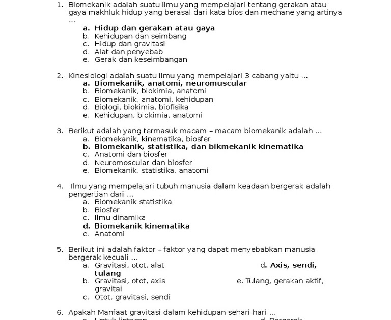 Contoh Soal Esai Kinesiologi Beserta Jawabannya - Jawaban ...