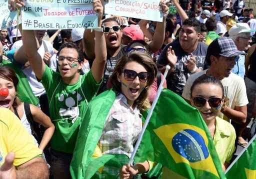 Manifestação em Fortaleza. Foto: Vanderlei Almeida/AFP Photo