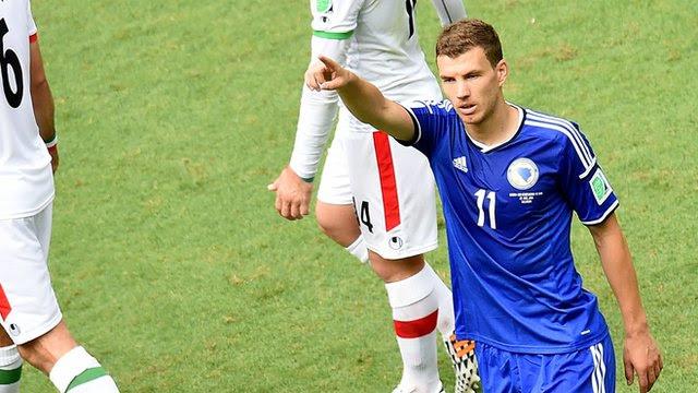 Edin Dzeko scores pinpoint drive for Bosnia