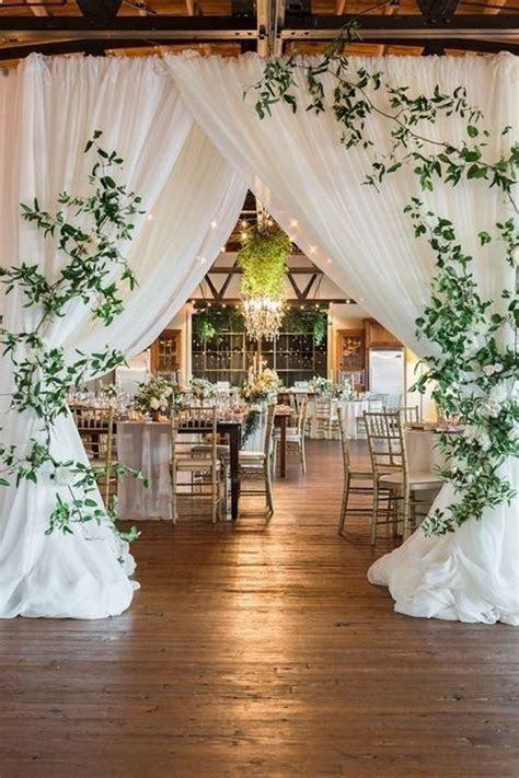 chic wedding reception entrance decorations