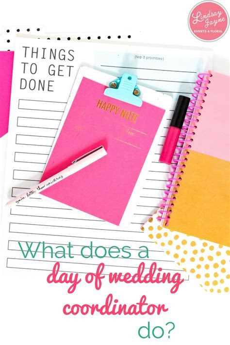 What does a day of wedding coordinator do?