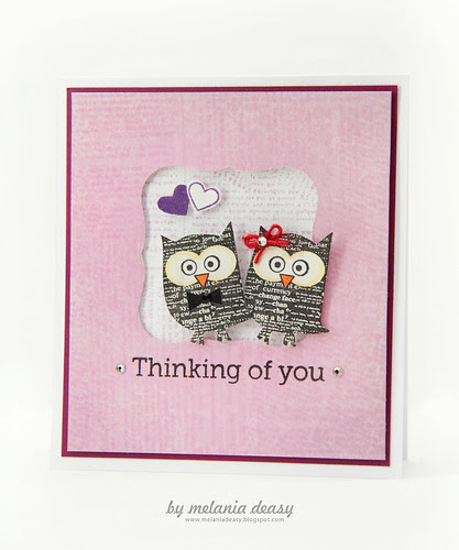 Loving Owly You Purple Card