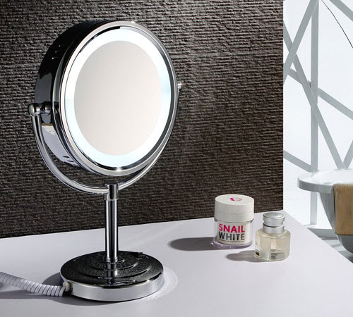 Tabletop Double Sided Led Light Makeup Mirror 1003 Magnifying