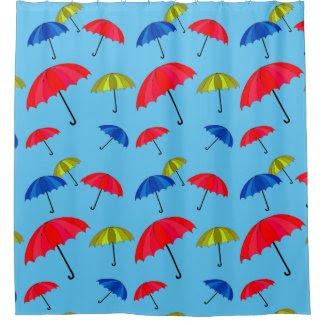 Umbrella Ubiquity on Shower Curtain