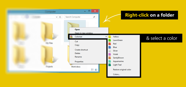 Customize folders with different Colors