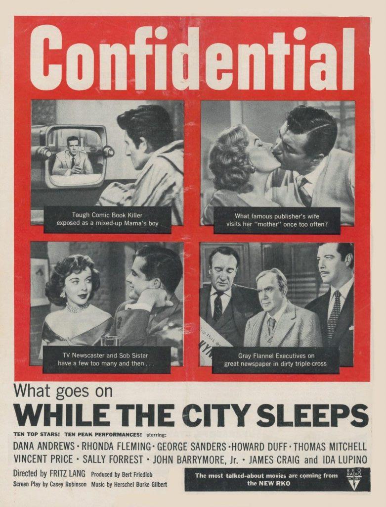 Resultado de imagem para while the city sleeps 1956 poster