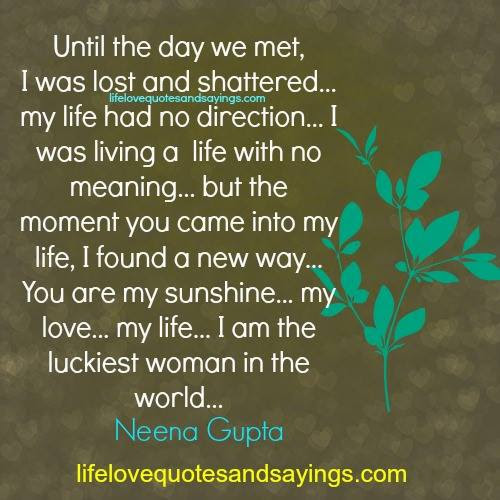 Quotes About Lucky Woman 38 Quotes