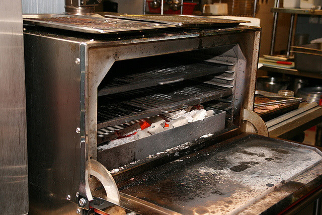 The Josper Grill uses slow-burning white charcoal for better retention of flavours