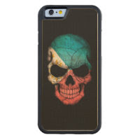 Filipino Flag Skull on Black Carved® Maple iPhone 6 Bumper Case