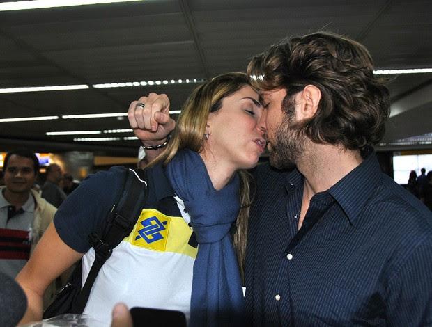 vôlei Thaisa e e o namorado, Rodrigo Medeiros (Foto: João Gabriel)