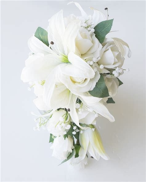 Natural Touch Off White Real Touch Roses and Lilies