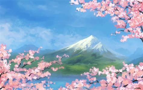nature  anime nature anime sky wallpapers