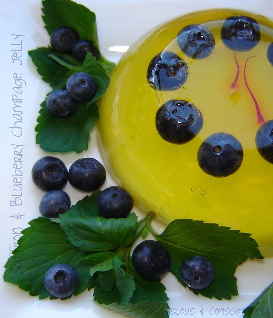 Blueberry & Saffron Champagne Jelly 2