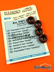 Tameo Kits: Neumáticos escala 1/43 - Pirelli P Zero Orange - 4 unidades