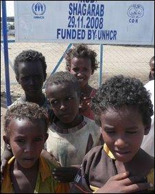 Eritrean children at the Shagarab camp in Sudan