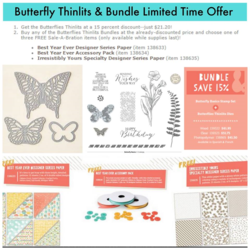 Butterflies thinlits and  bundle 15% off with SAB